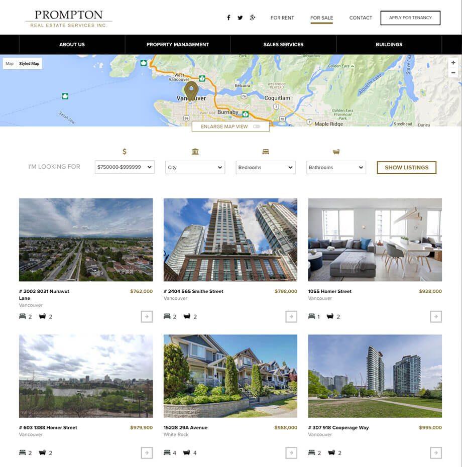Prompton website