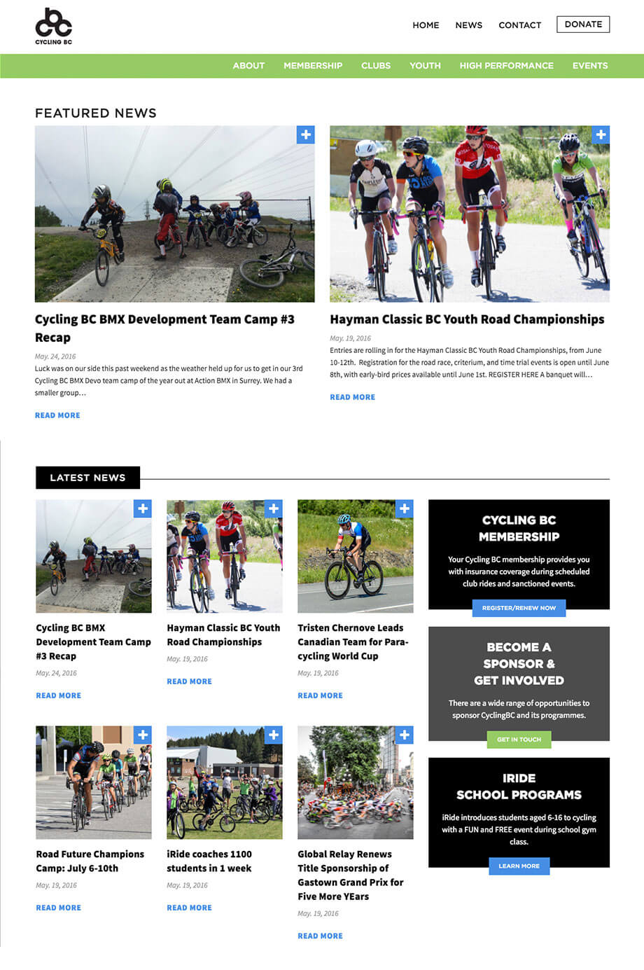 Cycling BC Website