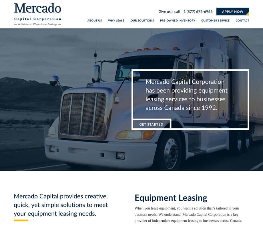 Mercado Capital Corporation website