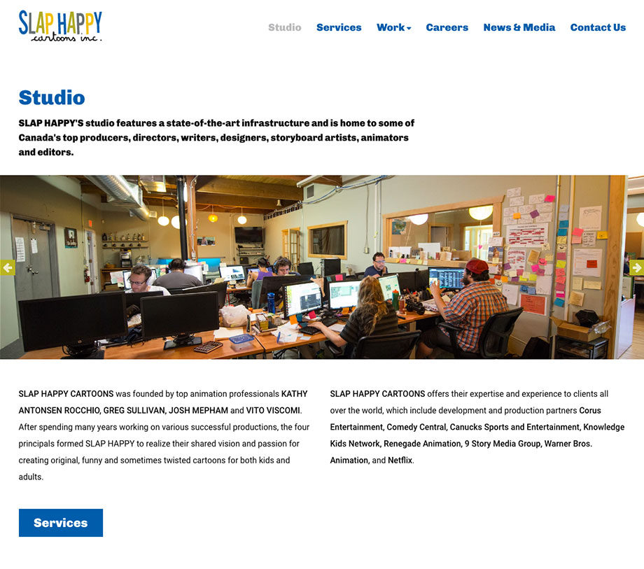 Slap Happy - Web design and development by SplitMango