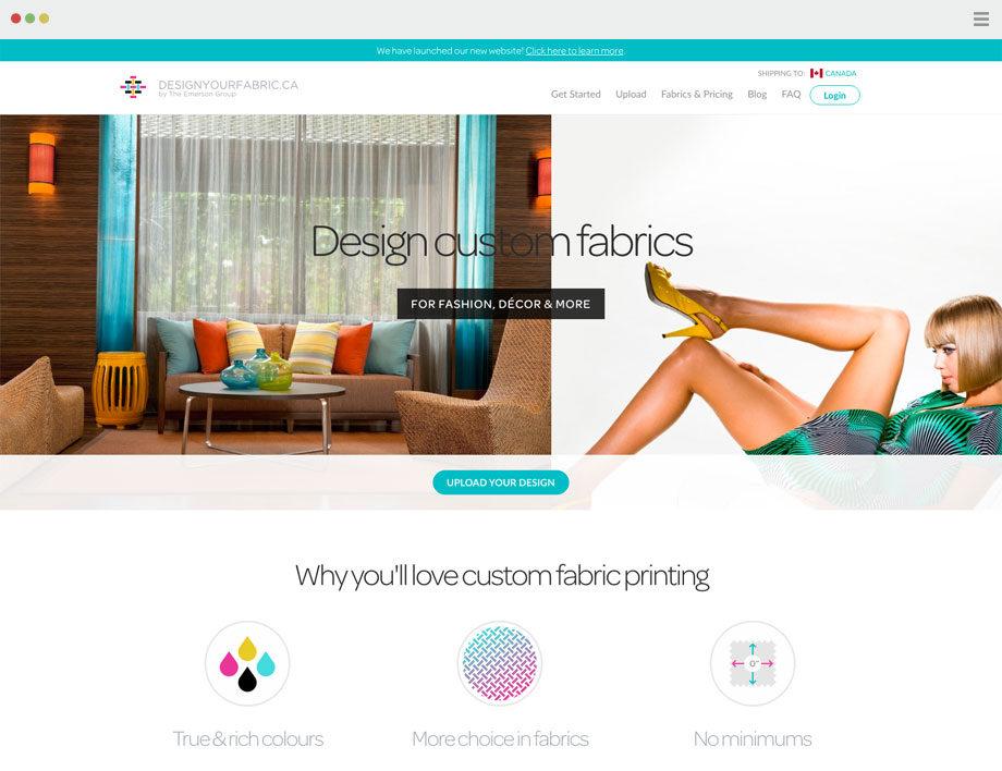 Design Your Fabric - Web development by SplitMango