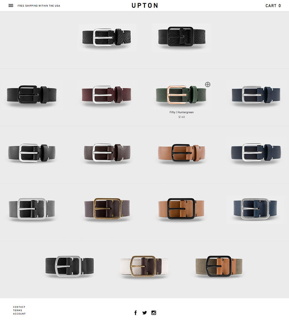Upton Belts - Shopify Development by SplitMango